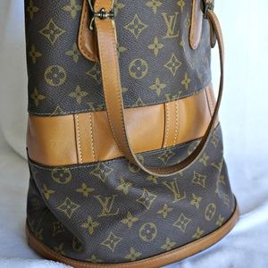 Louis Vuitton W Bucket 218551 Monogram Can Handbag